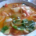 Nice Tom Yam but prawns not too fresh