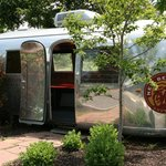 An old Airstream was converted into yard art