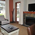 living room and door to balcony