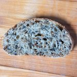 A slice of Blue Ridge Bread Co. German Style 5 Grain Bread
