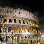 The Colosseum at night...