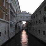 A peaceful canal scene