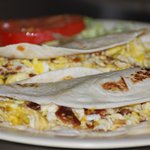Breakfast tacos can be ordered any time of day!