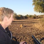 Fiona with wee pal...South Luangwa 2014
