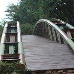 The bridge to the hotel lobby