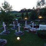 Garten am Abend
