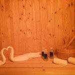 Sauna privata della Prestige Wellness Suite