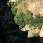 Tajo gorge below