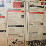 The very original menu, based on a Marxist theme