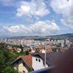 View from the hotel room on the city of Sarajevo