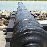 One of two canons which were brought there in 1792.