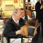 Jaloo Maneck enjoying the Orchestra Music on the Cruise Boat at Lake Lucern.