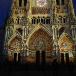 Amiens Cathedral at night