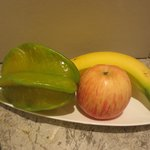 Fruit platter in room