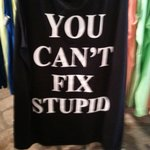 Tshirt at the Stupid Factory store.