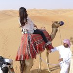 My first camel ride.