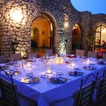 repas du soir sur la terrasse