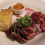 Duck breast with orange & sweet onion jam and Dauphinois potatoes
