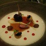 Baby Lamb, Black Garlic, Tomato, Burnt Grape