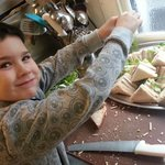 We also do buffets and parties here at the ruperra as chefs son is giving a hand