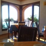 Breakfast area with View from the terrace