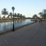 lake in centre of resort