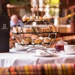 Afternoon Tea Stand at the Europa Hotel in Belfast