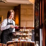 Serving Afternoon Tea at the Europa Hotel in Belfast