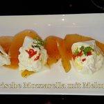 Mozzarella mit Melone, GRANDIOS!