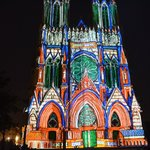 Reims cathedral laser light show