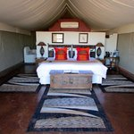 inside the luxury tent (No 13)