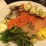 Hareng, saumon et truite! Un délice!