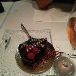 Surprise Birthday cake..... demolished!!