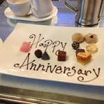 Our anniversary petits fours