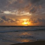a sunset in Karon