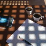 filling in papers, dive log & coffee ;)