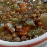 Lemon lentil soup - delicious!