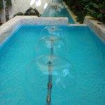 ornamental pools in the lobby