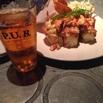 Lobster Rolls and their signature honey blonde beer...all so good!