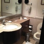 Bathroom- has a hair dryer!