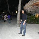 At the resort island