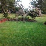 Beautiful backyard landscaping at The Mimslyn Inn