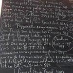 The ever-changing blackboard menu