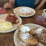 Giant pancake and French toast