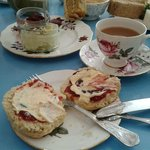 Lovely scones served with tea