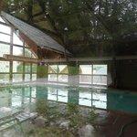Vue de la piscine intérieure chauffée.