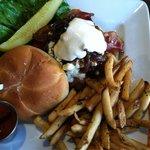 My husbands yummy burger