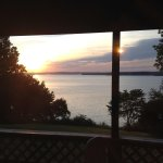 Sunrise over Lake Barkley as seen from the deck of our Resort Room