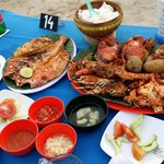 All these ( package 3, 1 grilled fish & additional bottle of bintang = 660,000 RP. Good value!!!