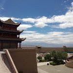 In the summer, the air in Jiayuguan is pretty good!